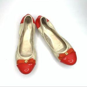 TAHARI 'Gibson' Ballet Flats Cream/Orange 8